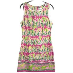 Lilly Pulitzer Millionaires Row Shift Dress Size 8